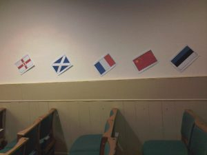 Flags - Northern Ireland, Scotland, France, China, Estonia