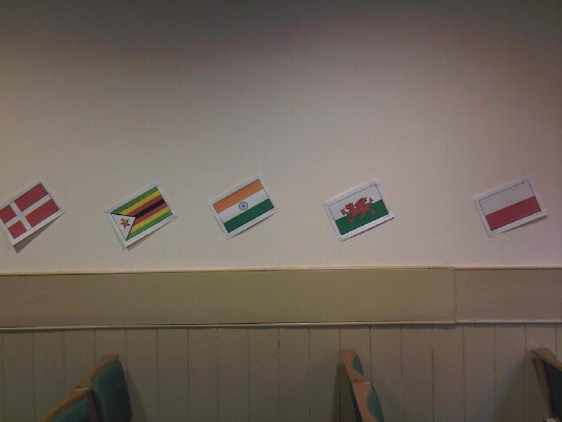 Flags - Denmark, Zimbabwe, India, Wales & Poland