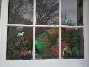 Advent Reindeer Window
