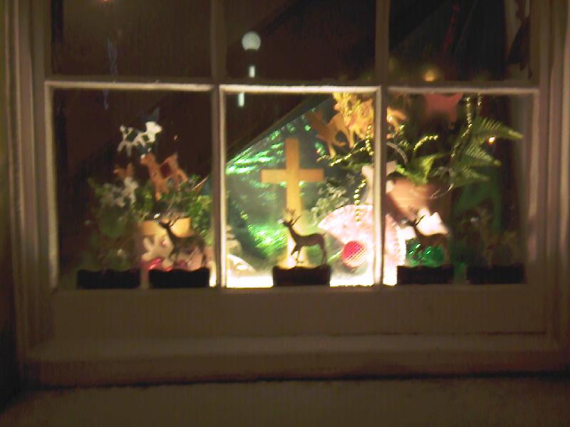Advent Reindeer Window