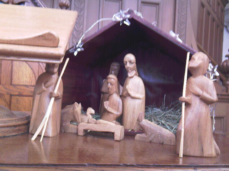 Carved Nativity
