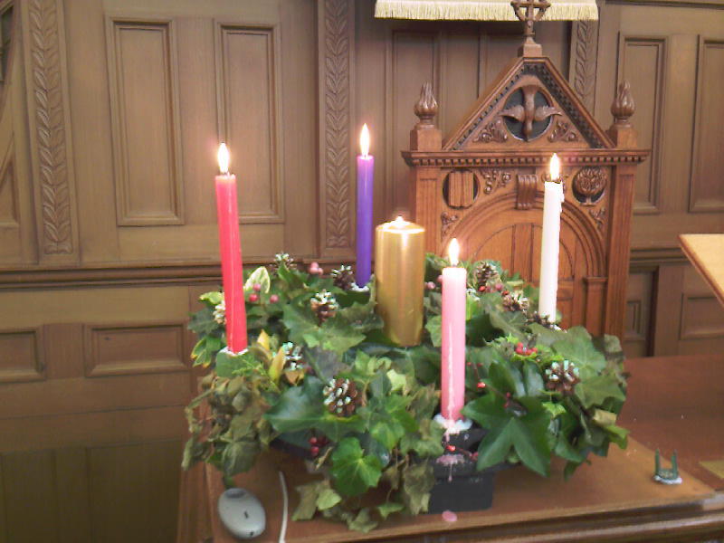 Christmas Candles and Advent Wreath