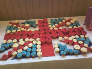 Union Flag Cupcakes
