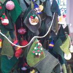Knitted Christmas Tree Detail