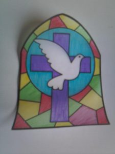 Messy Church Easter stained glass window