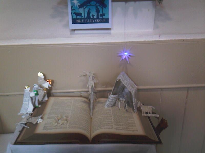Bible study group Nativity scene