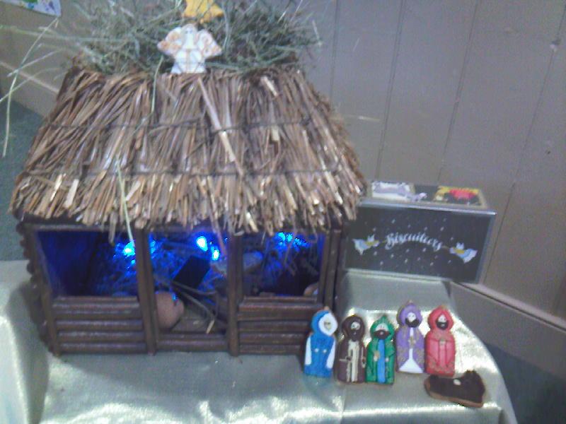 Biscuiteers Nativity scene closeup