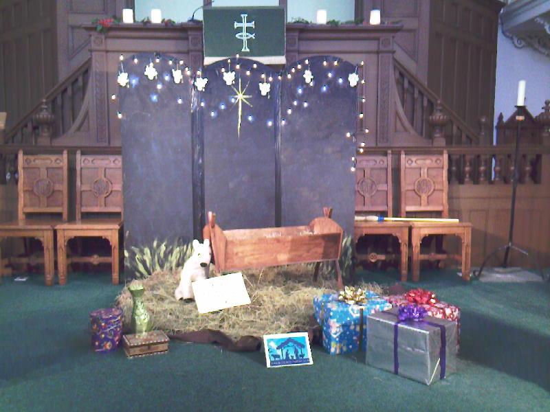 Central Nativity scene
