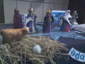 Prayer Circle Nativity scene