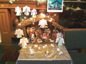 Rainbows Nativity scene