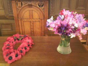 Poppies and sweet peas