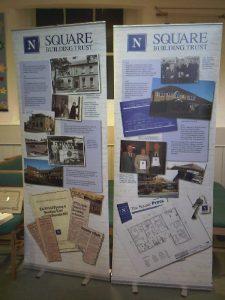 Square Building Trust displays