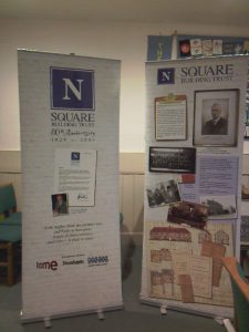 Square Building Trust displays