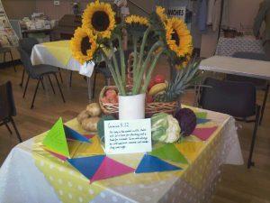 Harvest table decoration