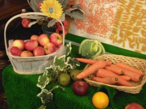 harvest apples and carrots