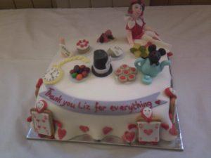 Liz's farewell cake