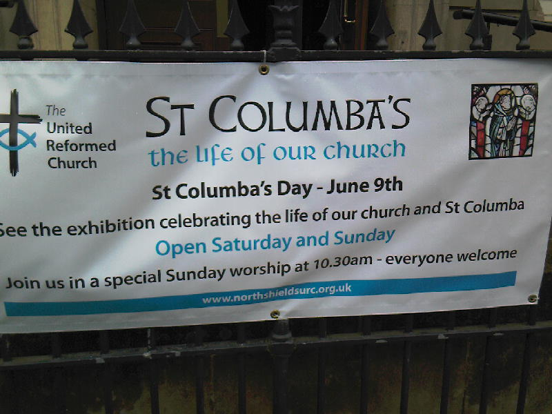 St Columba's Day banner
