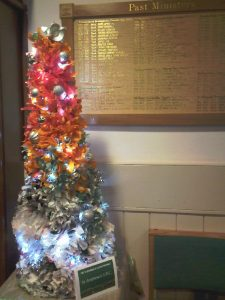Christmas tree made from recycled paper