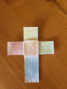 coloured paper cross