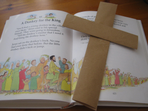 palm cross and children's book